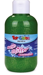 Slika od TOY COLOR glitter boja 250 ml - zelena