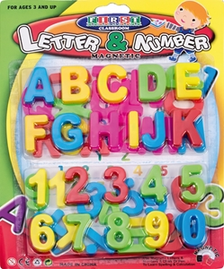 Picture of MAGNETIC letters and numbers 1-57