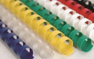 Slika od PLASTIČNA SPIRALA za uvez 6 mm – crvena